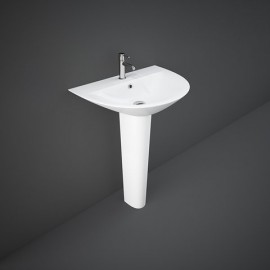 Lavabo + Colonna  MORNING MORWB5501AWHA Bianco Alpino Rak Ceramics