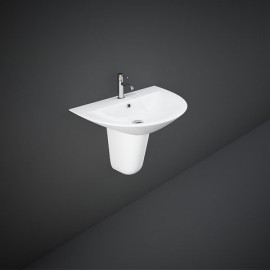 Lavabo + Semi Colonna  MORNING MORWB5501AWHA Bianco Alpino Rak Ceramics