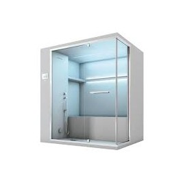 OLIMPO HAMMAM with Showerand integrated Bathtube    195x150xH.215 Angle - Hafro - Geromin