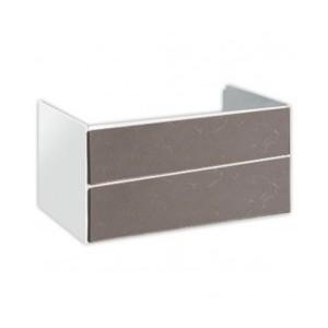 GRANDANGOLO Base sospesa Bianco spatolato - 2 cassetti 100 970x490x480h Hatria