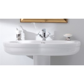 GSG TIME COUNTERTOP,WALL-HUNG OR ON PEDESTAL WASHBASIN one hole CM 95 (NO HOLE or three holes on request) FIXING KIT INCLUDED