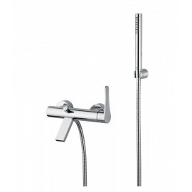 Bongio O'CLOCK external bath mixer with shower set