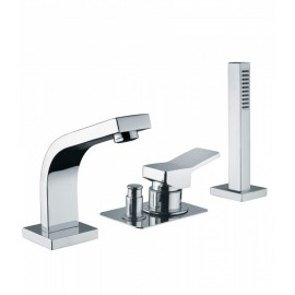 Bongio REEF deck bath mixer with handshower set