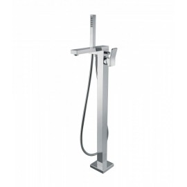 Bongio REEF bath mixer to the floor with shower set and diverter