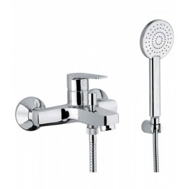 Bongio PI7 external bath mixer with shower set