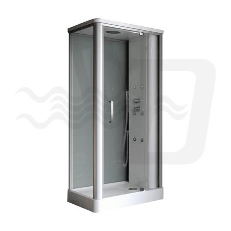 Box doccia angolare kira multifunzione 70x100 samo - Box doccia colorati ...