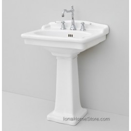 ARTCERAM HERMITAGE WASHBASIN 68 1 HOLE WITH ARRANGEMENT FOR 3 HOLES + HEC002