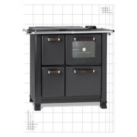 Kitchen Stove Classica 450 Nero Antracite 6 Kw Dal Zotto
