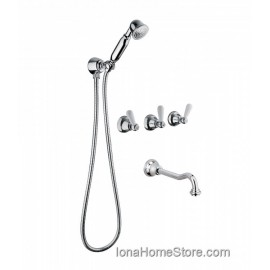 Bongio LA TOSCA built-in bath and shower mixer with duplex shower set