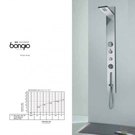 External shower column with thermostatic mixer, diverter,movable spraies and handshower set Chrome  Bongio 47131-ES