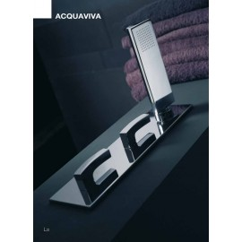 ACQUAVIVA Built-in bath with spout 220mm, set on plate and Mixer 56531/D