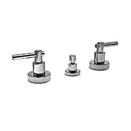 "T LEVER Bidet mixer Tre holes with pop-up waste 1.1/4"" Chrome  Bongio 31502"