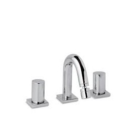 AQUA Bidet mixer 3 holes with clic-clac waste Chrome  Bongio 40503