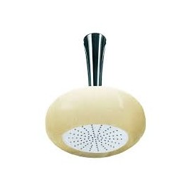 SOFFI Murano Glass Steel round shower head d 20 without arm Art.60804 White/golden leaf/gold  Bongio 60960OR77