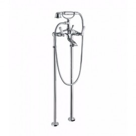 OXFORD LUX External bath mixer to the floor with shower set Chrome  Bongio 19528