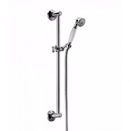 Sliding rail  with single function, handshower and double interlock hose Chrome  Bongio 971