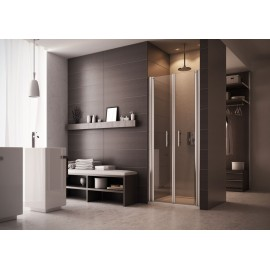 Evo  Door  Shower cabin  from  90cm Chrome  Crystal 6mm Transparent