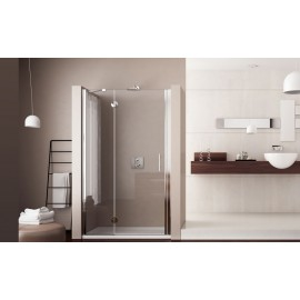 Mono One door Shower cabin  from  80cm Chrome  Crystal 6mm Transparent