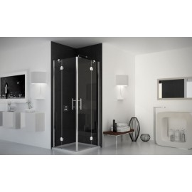 Bat Corner Panels Shower cabin  from  90x90cm Chrome  Crystal 6mm Transparent
