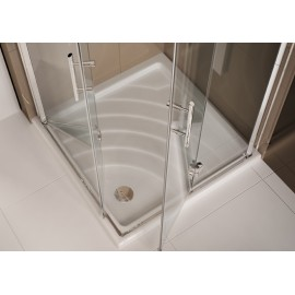 Easydue Corner Panels Shower cabin  from  90x90cm Chrome  Crystal 6mm Transparent
