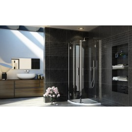 Adriatico Semicircular Panels Shower cabin  from  80X80cm Chrome  Crystal 6mm Transparent