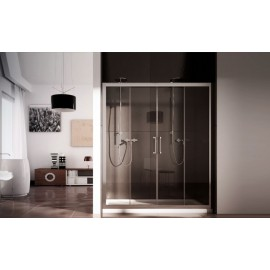 Mithra Panels Shower cabin  from  140cm Chrome  Crystal 6mm Transparent