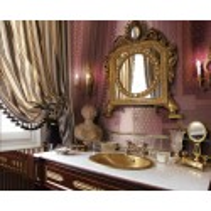 GIGLIO ORO SU BORDEAUX 20X20 GRAND ELEGANCE GOLD Petracer's