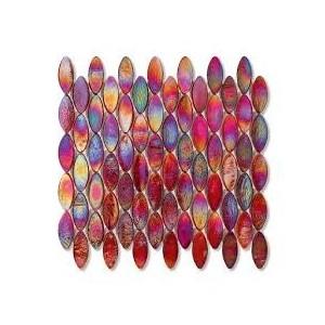 240 Wool Domes Iridiscendente 51,5x2,1-foglio  26,9x25,3 Mosaico Sicis