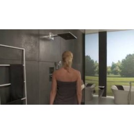 Hansgrohe Rainmaker Select 460 3 jet Overhead  with shower arm  460 mm nero/cromo 24007600