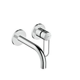 AXOR UNO  Built-in single-lever wall mixer With stirrup handle  165 Brushed Nickel  38121820