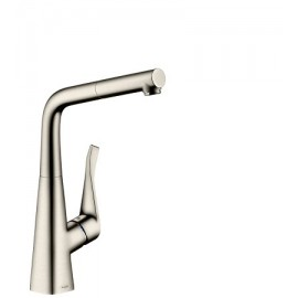 Metris Kitchen mixer  with removable spout   HANSGROHE 14821800 Steel  OPTIK