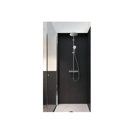 hansgrohe crometta s 240 1jet showerpipe with thermostatic. Black Bedroom Furniture Sets. Home Design Ideas