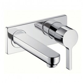 METRIS S Wall mounted single lever basin mixer with spout 16.5 cm HANSGROHE 31162000