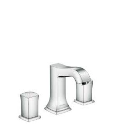 Metropol Classic 3-hole basin mixer 110 with zero and push-open handle  Cromo Oro  Hansgrohe 31304090