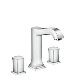 Metropol Classic 3-hole basin mixer 160 with zero and push-open handle  Hansgrohe 31305000