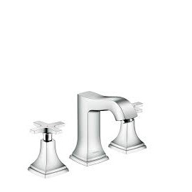 Metropol Classic 3-hole basin mixer 110 with cross and pop-up handle  Hansgrohe 31306000