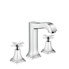 Metropol Classic 3-hole basin mixer 160 with cross and pop-up handle Hansgrohe 31307000