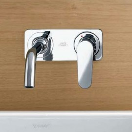 AXOR CITTERIO  Wall-mounted single lever basin mixer with 167 mm spout and plate CROMO  AXOR 34112000