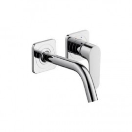 AXOR CITTERIO Wall-mounted single lever basin mixer with spout 167 mm and escutcheons CROMO  AXOR 34113000