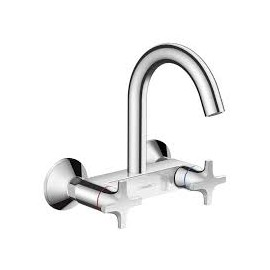Logis 2-handle kitchen mixer with wall-mounted high spout Hansgrohe 71286000
