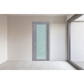 Laminated door With glass serie Panix Vetro Nuvola