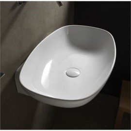 WASHBASIN 60 NUDASLIM COUNTERTOP/WALL-HUNG WHITE   - Ceramica Flaminia ND60L