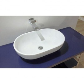 PASS WASHBASIN 62 CENTRAL HOLE COUNTERTOP WHITE   - Ceramica Flaminia PS62C