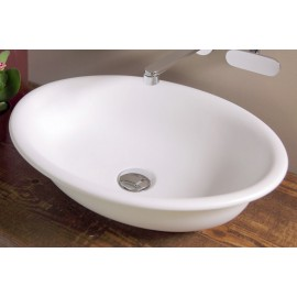 BOLL WASHBASIN 56 COUNTERTOP CENTRAL HOLE WHITE   - Ceramica Flaminia BL56L