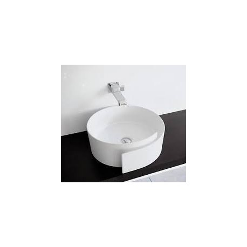 Ceramica Flaminia Roll.Roll Washbasin 44 Countertop Central Hole White Ceramica Flaminia Rl44l Ionahomestore Com