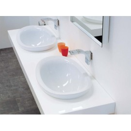 WASHBASIN 60 BUILT-IN IO LATTE   - Ceramica Flaminia IO4260LAT