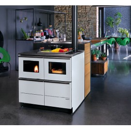 PELLET COOKERS BELLA IDRO 20  20kw PAINTED STEEL LACCATO Black Palazzetti